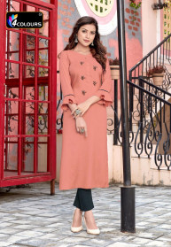 4Colours Womaniya 14KG Rayon Kurtis With Pant