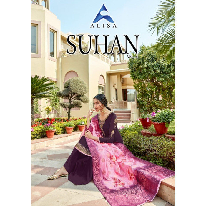 Alisa Suhan Vol 4 Satin Georgette Salwar Suits