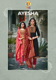 Avc Ayesha Modal Work Latest 3pcs Kurtis Set