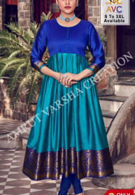 Avc Jheel Lichi Silk Jacquard New Gowns Set