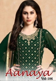 Aanaya Vol 106 Faux Georgette Salwar Suits