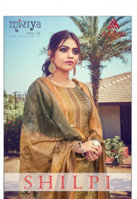 Aarav Shilpi Jam Silk Satin Salwar Suits