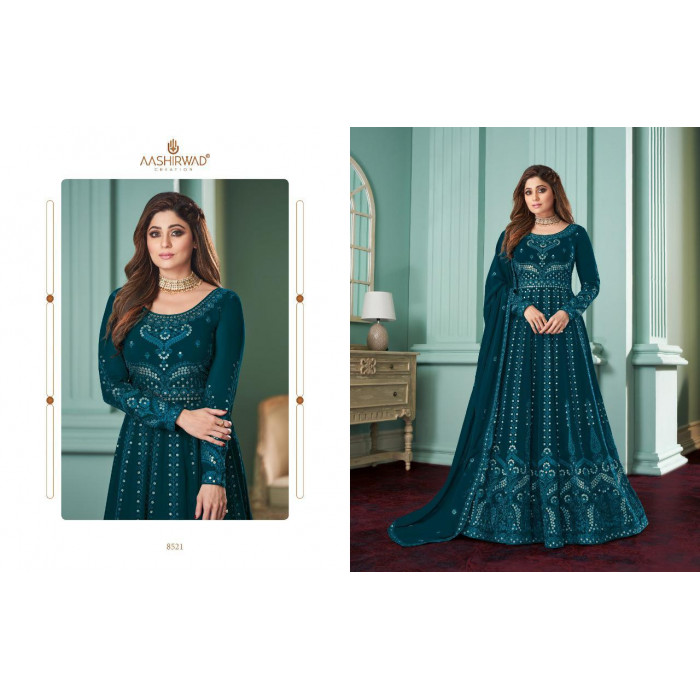 Aashirwad Creation Rose Real Georgette Gowns