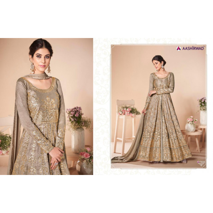 Aashirwad Festive Mulberry Silk Ladies Gowns