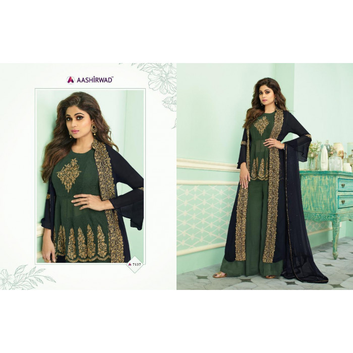 Aashirwad Gauhar Real Georgette Long Gowns