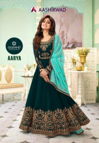 Aashirwad Aarya Georgette Heavy Gowns Catalog