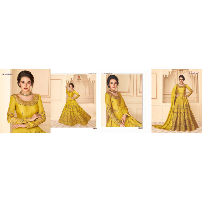 Aashirwad Maharani Pure Silk Heavy Gowns