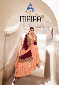 Alisa Maira Faux Georgette Long Salwar Suits