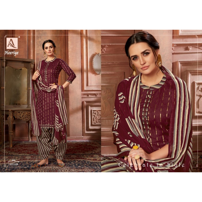 Alok Heeriye Pure Jam Cotton Salwar Suits