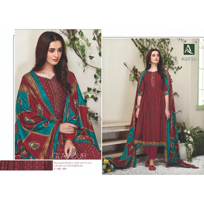 Alok Nayra Pashmina Jacquard Dress Materials