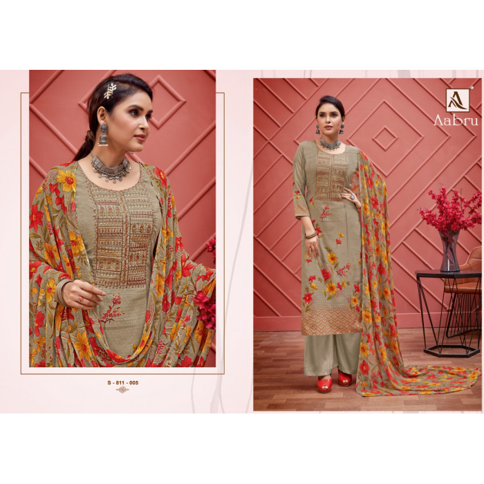 Alok Aabru Pure French Crepe Dress Materials