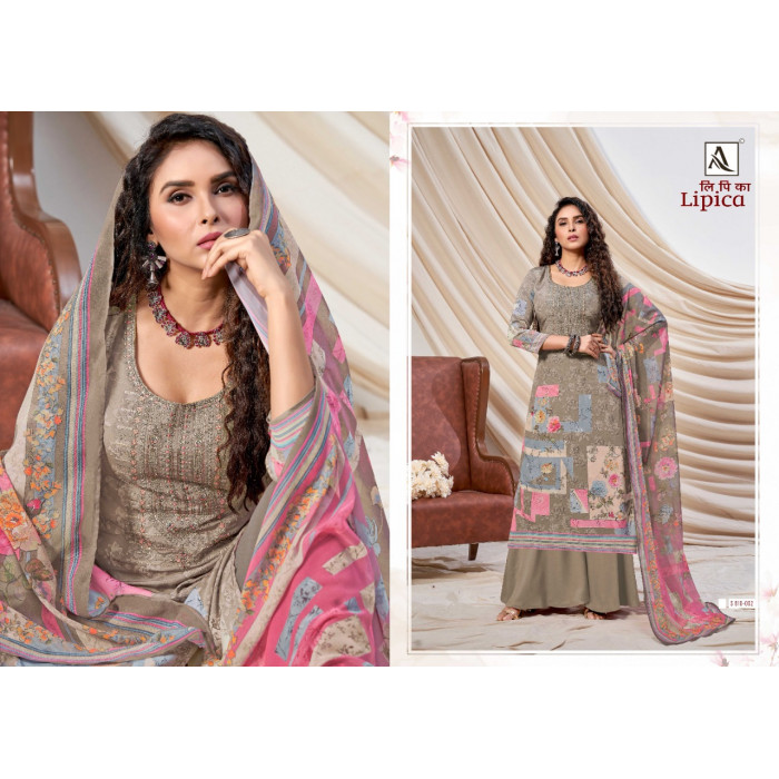 Alok Lipica Pure French Crepe Print Dress Materials