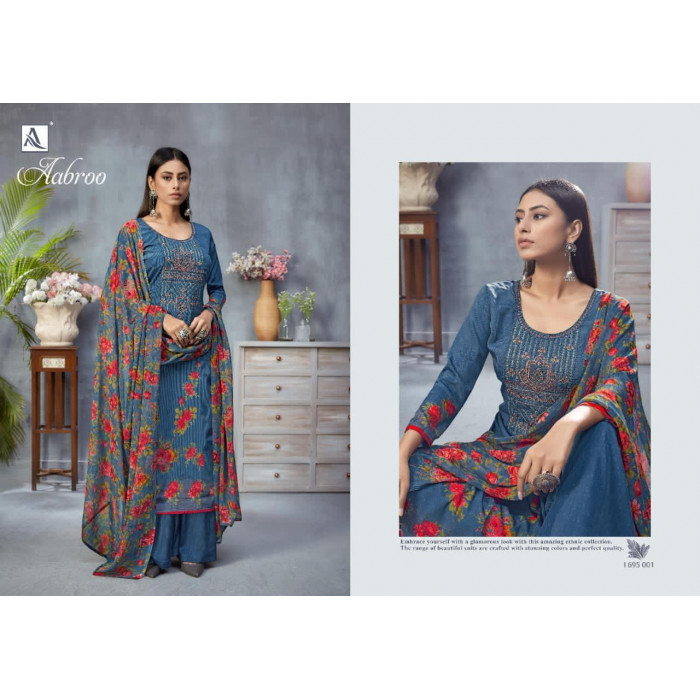 Alok Aabroo Pure French Designer Dress Materials