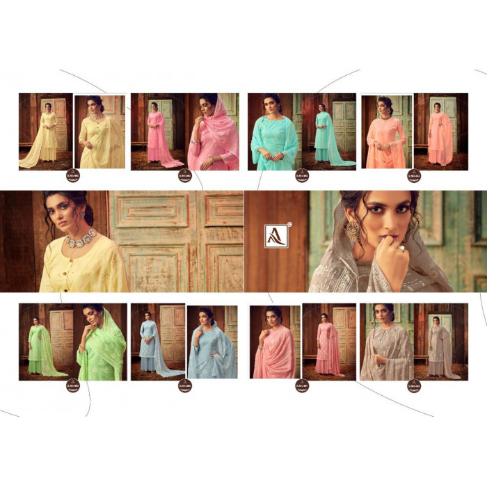 Alok Bloom Gold Pure Lawn Cotton Salwar Suits