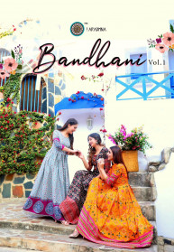 Aradhna Bandhani Vol 1 Heavy Cotton Long Gowns