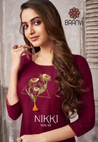 Baanvi Nikki Vol 1 Cotton Kurtis Catalog