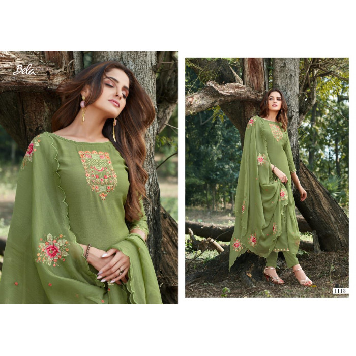 Bela Manzil Digital Cotton Silk Salwar Suits