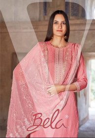 Bela Virasat Viscose Muslin Dress Materials