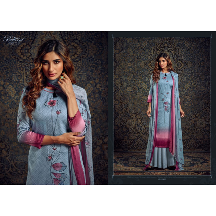 Belliza Naisha Jam Silk Dress Materials