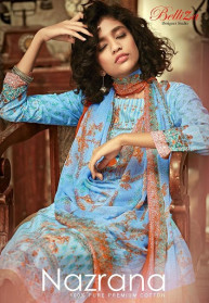 Belliza Nazrana Pure Cotton Dress Materials