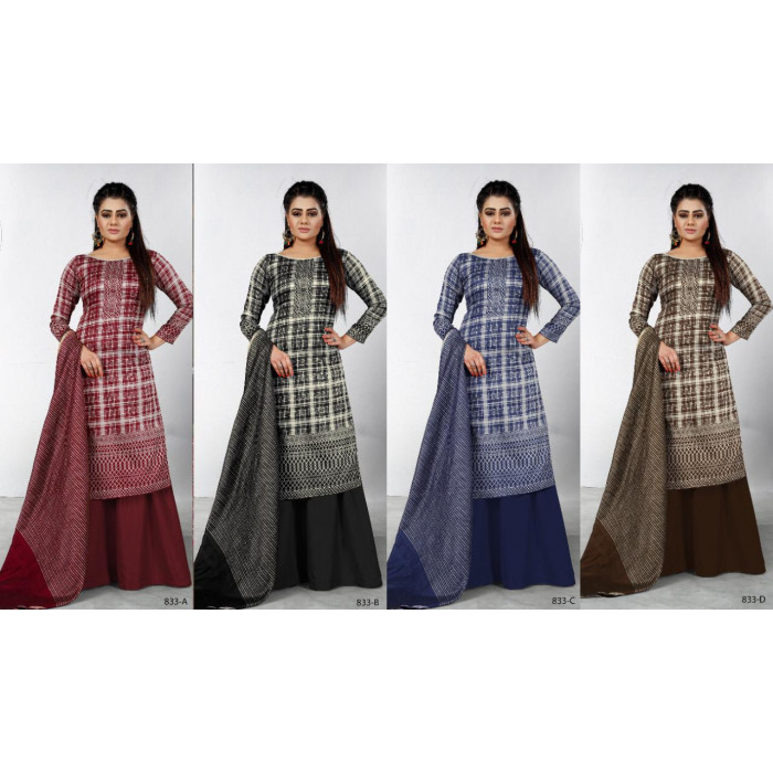 Bipson Piya 833 Glace Cotton Dress Materials