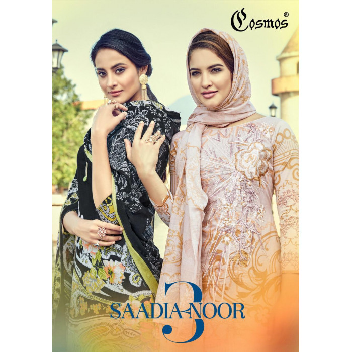 Cosmos Saadia Noor Vol 3 Dress Materials
