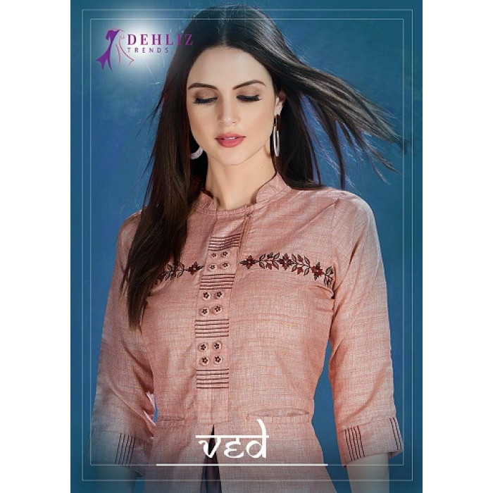 Dehliz Trends Ved Million Silk Fabric Kurtis