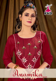Fvd Anamika Vol 1 Rayon Best Kurtis With Pent