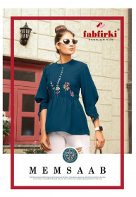 Fabfirki Memsaab Tops Western Collection Surat