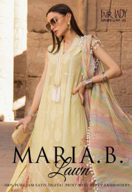 Fair Lady Maria B Lawn 2020 Jam Satin Salwar Suits