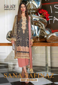 Fair Lady Sana Safinaz Satin Hit Design Salwar Suits