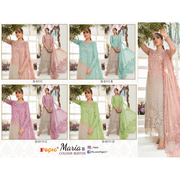 Fepic Maria B Colour Buster Net Heavy Salwar Suits