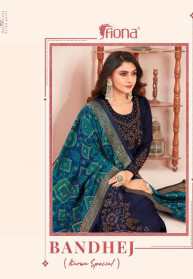 Fiona Bandhej Stain Georgette Dress Materials