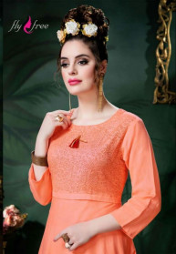 Fly Free Sanidya Vol 2 Rayon Kurtis With Bottom