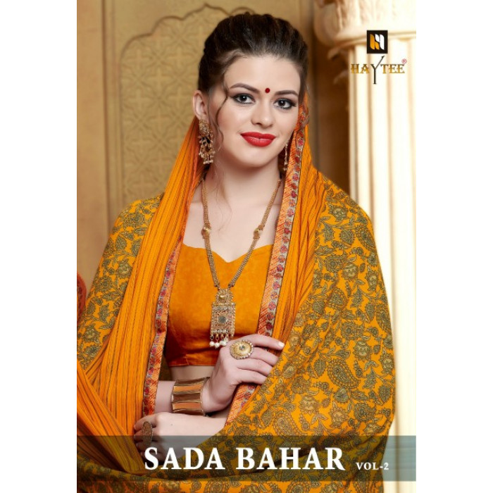 Haytee Sada Bahar Vol 2 Sarees Wholesale Rate