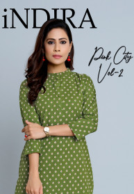Indira Pink City Vol 2 Cambric Cotton Kurtis & Pant