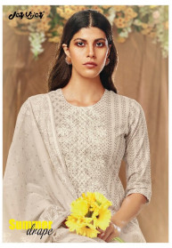 Jay Vijay Summer Drape Pure Cotton Dress Materials