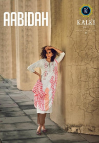 Kalki Aabidah Viscose Cotton 3pcs Kurtis Catalog