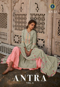 Kalki Antra Vol 3 Pure Cotton 3pcs Kurtis Set