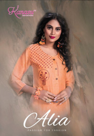 Kanasu Alia Vol 2 Cotton Straight Kurtis Collection