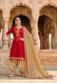 Kessi Panetar By Patiala Jam Silk Dress Materials