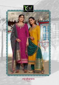 Kessi Rajgharana Vol 2 Jam Silk Dress Materials