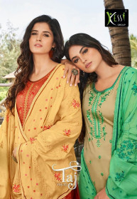 Kessi Taj Vol 2 Jam Silk Work Dress Materials
