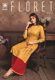 Kiana Floret Vol 3 heavy Rayon Top Kurtis