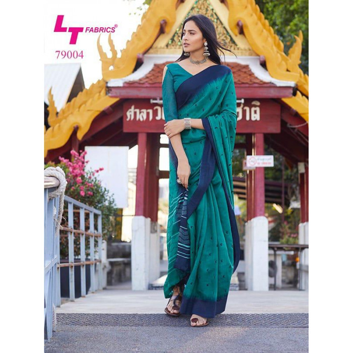 LT Megha Lilen Silk Party Wear Sarees