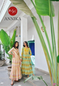 LT Nitya Annika Fancy Long Flair Round Kurtis