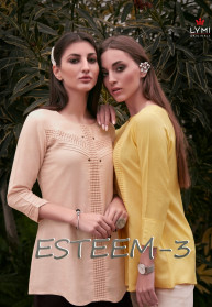 Lymi Esteem Vol 3 Rayon Flex Schiffli Tops