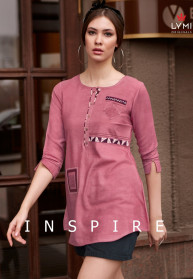 Lymi Inspire Rayon Flex Embroidery Top