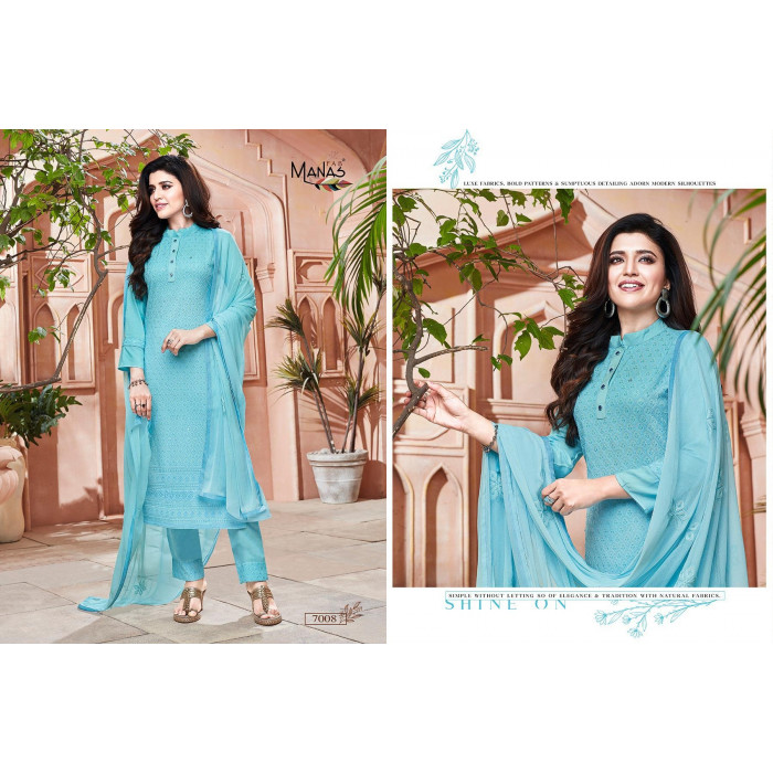 Manas Schiffli Vol 2 Rayon Heavy 3PCS Kurtis Set