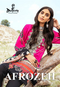 Majesty Afrozeh Jam Silk Cotton Salwar Suits